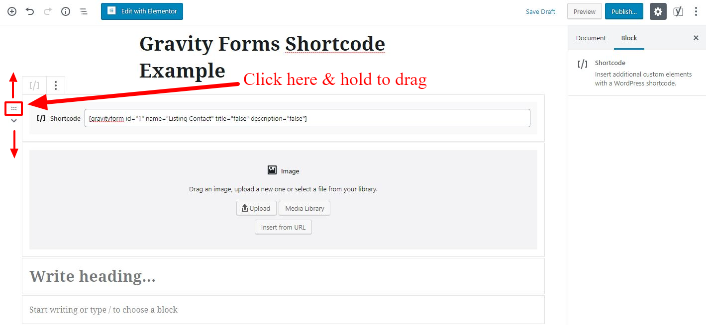 Adding Gravity Forms Shortcode in Wordpress 5 0 | WP