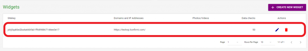 Konfirmi Widget for Customer ID Authentication