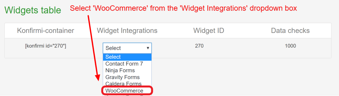 WooCommerce SSO Widget Integrations | Konfirmi